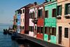 Burano, Calle Manetta, Colourful Painted Houses on Rio S.Mauro, Venice - photo by A.Beaton