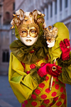 Carnival participant with Carnival costume in Piazza San Marco, Venice - photo by A.Beaton