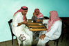 Jordan - Amman: Arab men playing backgamon - photo by J.Kaman