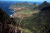 Juan Fernandez islands - Robinson Crusoe island: mirador Selkirk - looking west (photo by Willem Schipper)