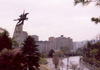 North Korea / DPRK - Pyongyang: Chollima statue over Chilsongmun street - photo by M.Torres