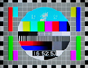 Pyongyang, North Korea / DPRK: North Korean TV test card - test pattern in North America - television test signal - Korean Central Television (KCTV) - photo by M.Torres