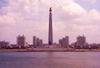 North Korea / DPRK - Pyongyang: Tower of the Juche Idea on the Taedong river - 150 metre-high stone obelisk - photo by M.Torres