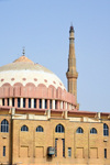 Erbil / Hewler / Arbil / Irbil, Kurdistan, Iraq: Al Sawaf mosque with its large tile covered dome - photo by M.Torres