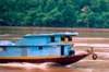 Laos - Luang Prabang - commercial boat trough the Mekong - photo by K.Strobel