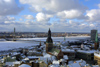 Latvia / Latvija - Riga: almost from the air - old Riga, Pardaugava and Vansu tilts - frozen Daugava (photo by A.Dnieprowsky)