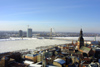 Latvia / Latvija - Riga: both banks - almost from the air - Winter II - view from St Peter's church (photo by Alex Dnieprowsky)