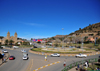 Maseru, Lesotho: Maseru Cathedral Circle with the Catholic Cathedral on the left - start of Kingsway - photo by M.Torres