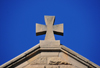 Maseru, Lesotho: Our Lady of Victory Cathedral - cross atop the main façade - photo by M.Torres