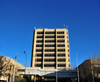 Maseru, Lesotho: Standard Lesotho Bank - central tower and elevates passage between the lower blocks - Kingsway - photo by M.Torres