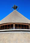 Maseru, Lesotho: Basotho Hat building - thatched roof - photo by M.Torres