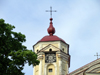 Lithuania - Vilnius: Sts. Peter & Paul's Church - clock - bell tower - photo by A.Dnieprowsky