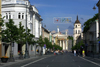 Lithuania - Vilnius: Gedimino avenue and the Cathedral of the Three Saints - photo by A.Dnieprowsky