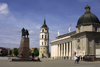 Lithuania - Vilnius / Wilno / Vilna : Cathedral - Basilica - Cathedral of the Three Saints and its Belfry - Vilnius Historic Centre - Unesco world heritage site - photo by A.Dnieprowsky