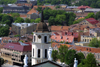 Lithuania - Vilnius: Cathedral of the Three Saints and its Belfry - from the hill - photo by A.Dnieprowsky