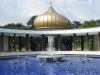 Malaysia - Kuala Lumpur -  KL / KUL: National monument - pond and golden dome - photo by Ben Jackson