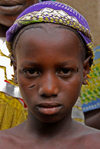 Djenné cercle, Mopti Region, Mali: girl with tribal scarification near Djenne - photo by J.Pemberton