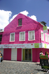 Fort-de-France, Martinique: pink façade - photo by D.Smith