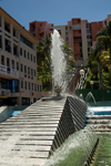 Fort-de-France, Martinique: modern fountain - photo by D.Smith