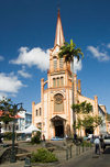 Fort-de-France, Martinique: Cathedral of Saint-Louis - Rue Schoelcher, Msg. Roméro square - French West Indies, Caribbean - photo by D.Smith