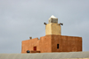 Nouakchott, Mauritania: small reddish mosque of the fishing harbor- photo by M.Torres
