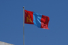Ulan Bator / Ulaanbaatar, Mongolia: Mongolian flag on Sukhbaatar square - photo by A.Ferrari