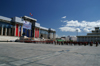 Ulan Bator / Ulaanbaatar, Mongolia: in front of the Parliament building, Suhbaatar square - photo by A.Ferrari
