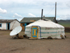 Mongolia - Ulaan Baator / Ulan Bator / ULN: yurt / ger with a satellite dish - photo by P.Artus