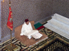 Morocco / Maroc - Rabat: mausoleum of Mohammed V - praying with the Koran - photo by J.Kaman