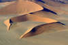 Namibia: Aerial View of Horseshoe shaped sand dune, Sossusvlei, Hardap region - photo by B.Cain