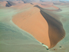 Namibia: Aerial view of sand dunes, Sossusvlei - photo by B.Cain