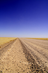 Erongo region, Namibia: country road - soul reaching tranquility - no life at all - photo by Sandia