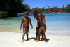 New Caledonia / Nouvelle Calédonie - Isle of Pines: local boys play for the camera (photo by R.Eime)