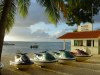 Northern Marianas - Saipan / SPN: jet skis wait for clients - marine sports center - Hafadai Hotel (photo by Peter Willis)