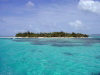 Northern Marianas - Saipan - Managaha island, a flat coral islet: approaching Managaha from the lagoon (photo by Peter Willis)