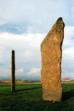 Orkney island, Mainland - Orkney - megaliths - the Standing Stones of Stenness - Finstown village - photo by Claudia Amann