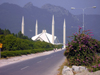 Islamabad, Pakistan: road leading to Faisal mosque - funded by the government of Saudi Arabia, King Faisal bin Abdul Aziz - photo by D.Steppuhn
