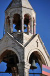 Bethlehem, West Bank, Palestine: Church of the Nativity - Armenian bell tower, part of an Armenian monastery - various Christian denominations share control over different parts of the church - photo by M.Torres