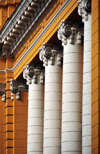 Lima, Peru: Beaux Arts school - Ionic order columns on the façade - Escuela Nacional de Bellas Artes - Centro Cultural - ENSABAP - photo by M.Torres