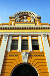 Lima, Peru: façade of the old train station - Estación Desamparados - architect Rafael Marquina - jirón Ancash - photo by M.Torres