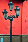 Lima, Peru: old triple street lamp on Carabaya st - photo by M.Torres