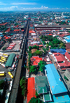 Metro Manila, Philippines - Elevated Light Rail Track LRT from above - photo by B.Henry