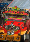 Manila city, Philippines - Jeepney bus with Mercedes logo - photo by B.Henry