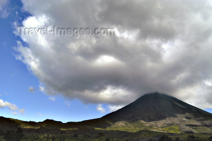 Costa Rica - Arenal Volcano and cloud formation, Cano Negro National Park - Alajuela Province - photo by B.Cain