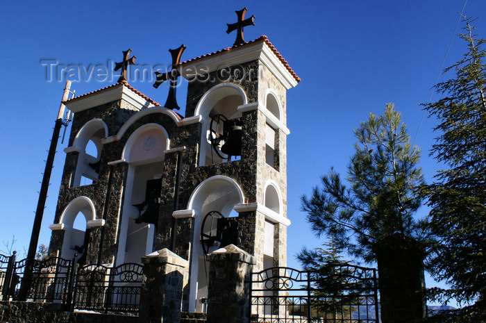 Kykkos Monastery - Troodos mountains, Nicosia district, Cyprus: clock towers - photo by A.Ferrari