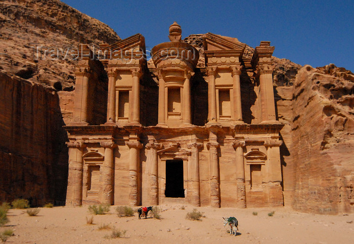 Jordan - Petra: Ad Deir, the Monastery - mausoleum for Nabataean King Rabbel I or for the cult of Obodas I - UNESCO world heritage site - Ed Deir - Al Deir - photo by  M.Torres