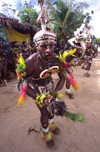PNG - Papua New Guinea - Colorful dancer, Tuam Island - photo by B.Cain