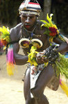 PNG - Papua New Guinea - Colorful male dancer, Tuam Island - photo by B.Cain