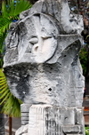 Port Mathurin, Rodrigues island, Mauritius: modern sculpture - photo by M.Torres