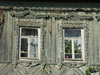 Russia - Perm: Russian timber architecture - detail - decorated windows - photo by P.Artus